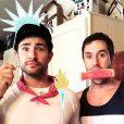 Matt Dallas et Blue Hamilton sur Instagram - Juillet 2015