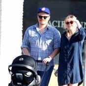 Kirsten Dunst, un mois après l'accouchement : En balade avec son petit Ennis