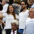 Thomas Hollande et sa compagne Emilie Broussouloux - People lors de la finale du Top 14 français entre Montpellier et Castres au Stade de France à Paris, le 2 juin 2018. © Pierre Perusseau/Bestimage