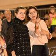 Charlotte Casiraghi, enceinte, et sa mère la princesse Caroline de Hanovre le 29 juin 2018 lors de la remise des prix de la Pro Am Cup, une épreuve qu'elle parraine, au Jumping de Monte-Carlo, étape du Longines Global Champions Tour. © Bruno Bebert/Bestimage