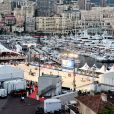 Une vue générale du Quai Albert 1er, durant la remise des prix du Longines Pro Am Cup Monaco lors de la 13ème édition du Jumping International de Monte Carlo qui se déroule au Port Hercule à Monaco le 29 juin 2018. Le Jumping International de Monte Carlo fait partie d'une des étapes du Longines Global Champions Tour. Il se déroule jusqu'au 30 juin. C'est l'équipe de la fédération équestre de la Principauté de Monaco qui est arrivée première, suivi de l'équipe Equitheme et Monaco Aces. © Bruno Bebert/Bestimage