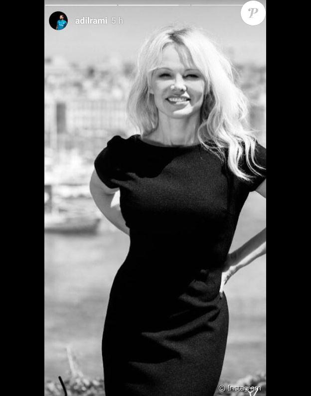 Adil Rami publie une photo de Pamela Anderson sur sa page Instagram le 1er juillet 2018.