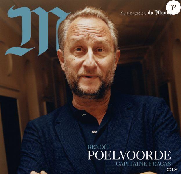 """Benoît Poelvoorde en couverture de """"M le magazine du Monde"""", 29 juin 2018."""