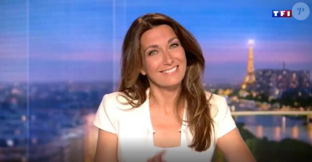 Anne-Claire Coudray sur le plateau de TF1 - 29 juin 2018