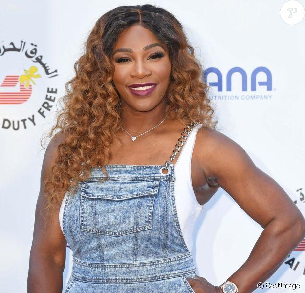 """Serena Williams au photocall de la soirée """"Woman's Tennis Association (WTA) on the Thames"""" à Londres, le 28 juin 2018."""