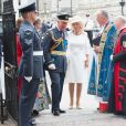 Le prince Charles et Camilla Parker Bowles, duchesse de Cornouailles, à l'abbaye de Westminster, le 10 juillet 2018 à Londres, pour le service marquant le centenaire de la Royal Air Force (RAF).