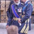 Le prince Michael de Kent et le prince Edward de Kent arrivant à l'abbaye de Westminster, le 10 juillet 2018 à Londres, pour le service marquant le centenaire de la Royal Air Force (RAF).
