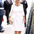 Camilla Parker Bowles, duchesse de Cornouailles, à l'abbaye de Westminster, le 10 juillet 2018 à Londres, pour le service marquant le centenaire de la Royal Air Force (RAF).