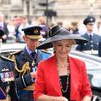 Le prince et la princesse Michael de Kent arrivant à l'abbaye de Westminster, le 10 juillet 2018 à Londres, pour le service marquant le centenaire de la Royal Air Force (RAF).