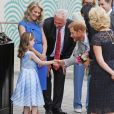 Le prince Harry, duc de Sussex et sa femme Meghan Markle, duchesse de Sussex visitent le musée de l'émigration à Dublin en Irlande le 11 juillet 2018