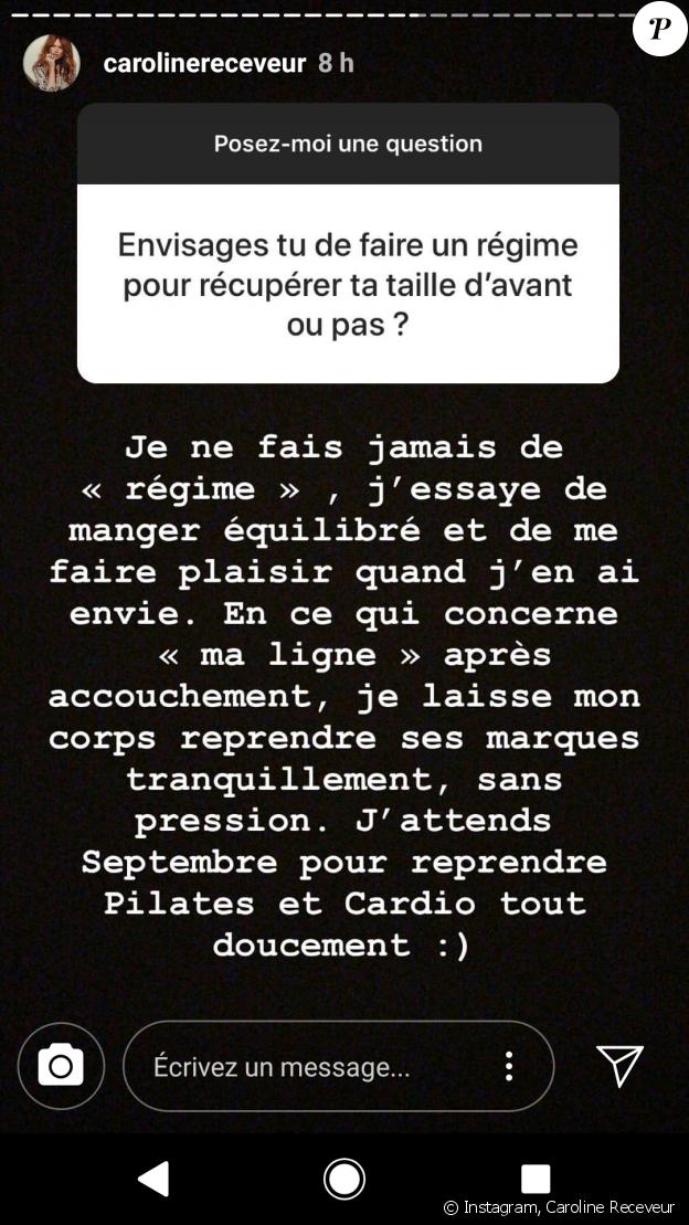 Caroline Receveur - story Instagram, 11 juillet 2018