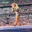 Beyoncé fait signe à Jean Imbert au Stade de France, le 15 juillet 2018