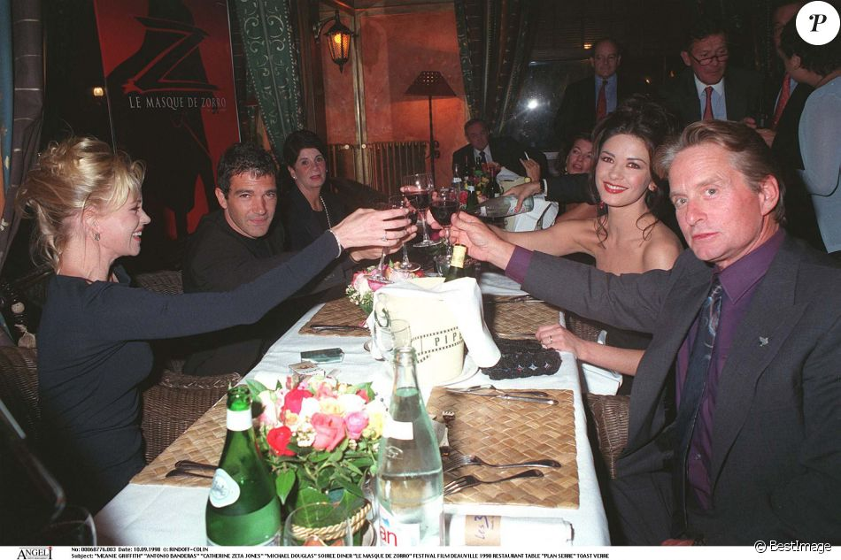 Catherine Zeta-Jones et Michael Douglas en 2000 :