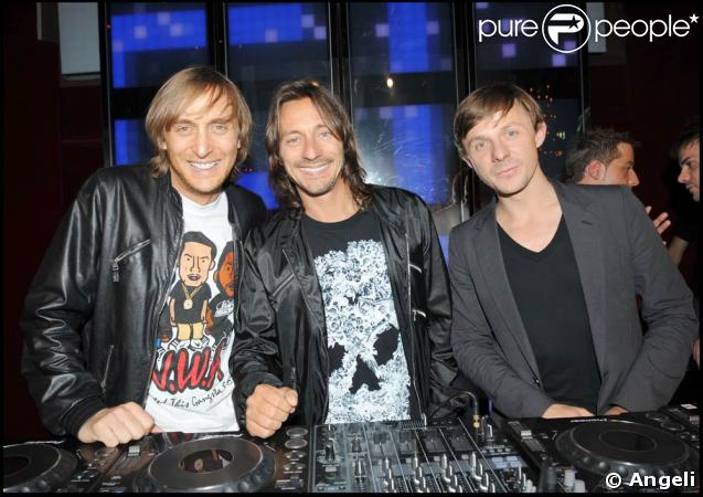 """David Guetta, Bob Sinclar et Martin Solveig, la """"dream-team"""" des DJ français aujourd'hui."""
