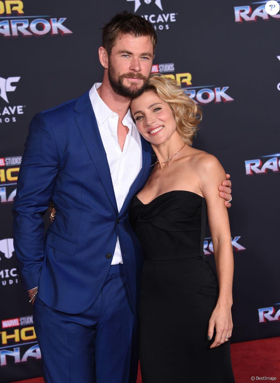 Chris Hemsworth et sa femme Elsa Pataky à la première de 'Thor: Ragnarok' à Hollywood, le 10 octobre 2017 © Chris Delmas/Bestimage