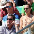 Martina Hingis et Harald Leemann dans les tribunes des internationaux de France de tennis de Roland Garros à Paris le 8 juin 2017 © Dominique Jacovides / Cyril Moreau / Bestimage