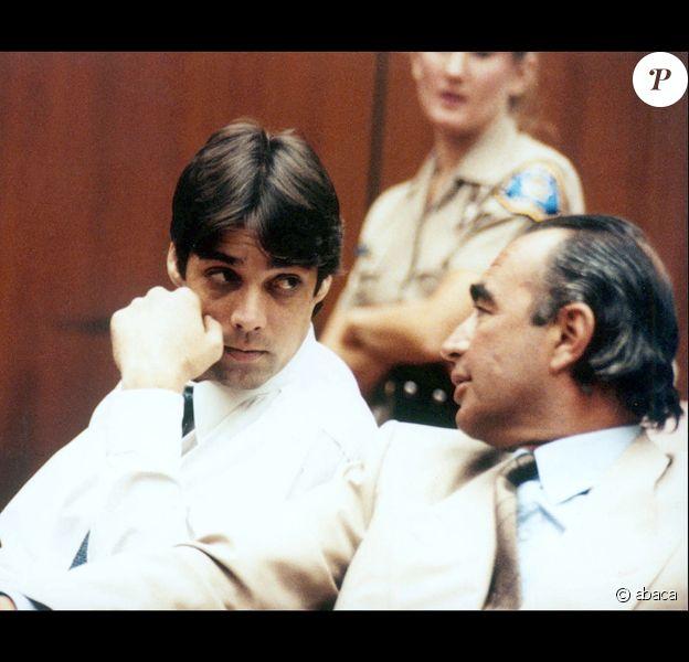 Christian Brando et son avocat lors de son procès