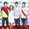 Les Jonas Brothers avec Demi Lovato en 2010.