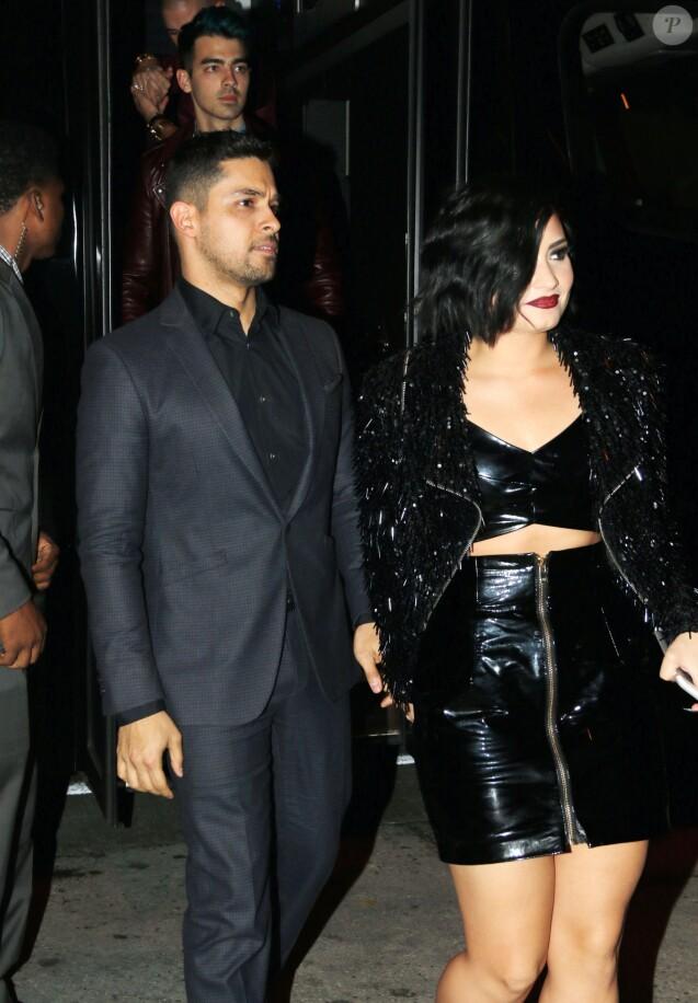 Demi Lovato et son compagnon Wilmer Valderrama - People à l'after party de Jennifer Lopez des American Musics Awards à Hollywood le 22 novembre 2015.