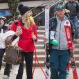 Exclusif - Bode Miller et sa femme Morgan Beck en vacances à Aspen, Colorado, Etats-Unis, le 31 décembre 2017.
