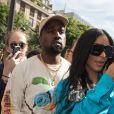 Kim Kardashian et Kanye West quittent le restaurant l'Avenue à Paris, pour se rendre à la boutique Dior. Le 21 juin 2018