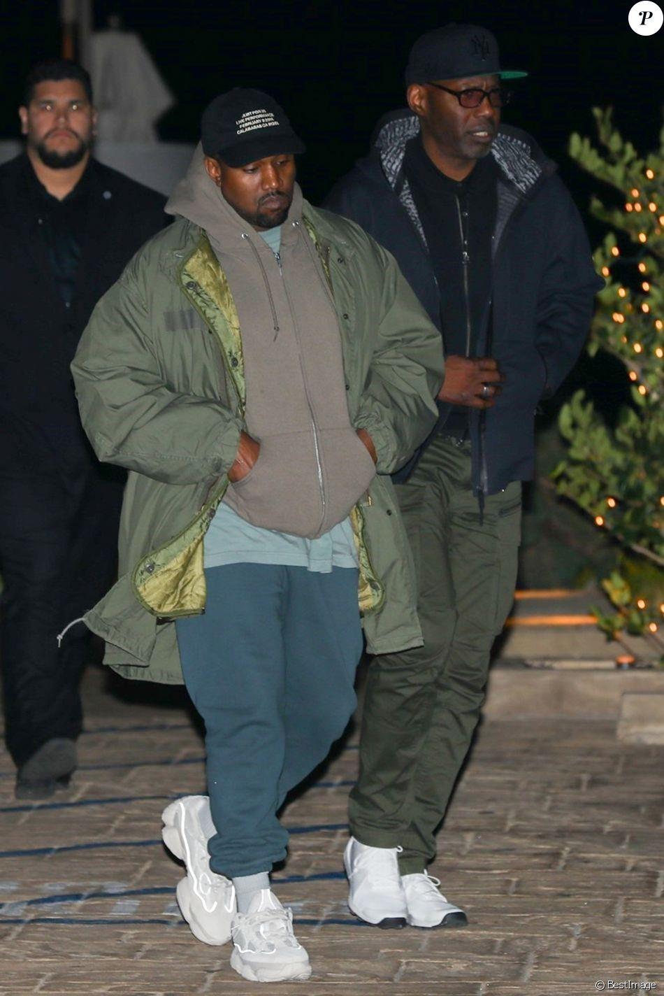 Kanye West est allé diner avec son père Ray West au restaurant Nobu à Malibu, le 15 février 2018