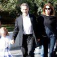 Nicolas Sarkozy, sa femme Carla Bruni et leur fille Giulia arrivent au musée de l'Acropole à Athènes. Le 24 octobre 2017