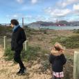 Carla Bruni, son fils Raphaël et sa fille Giulia à San Francisco. Février 2018.