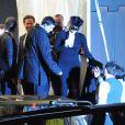 Les invités quittent le Punta Della Dogana à Venise le 24 avril 2009 après le dîner qui précède la fête du mariage de Salma Hayek et François-Henri Pinault : Charlize Theron