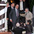 Les invités se dirigent vers le Punta Della Dogana à Venise pour le dîner précédant la célébration du mariage de Salma Hayek et François-Henri Pinault le 24 avril 2009 : Jacques Chirac