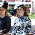 Les princesses Beatrice et Eugenie d'York au Royal Ascot le 21 juin 2018.
