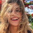 Camille Cerf les cheveux dans le vent à Saint-Martin - Instagram, 13 juillet 2018