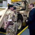 Le prince William visite l'usine JBC