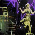 """Britney Spears sur la scène du """"Pride Festival"""" dans le Preston Park à Brighton le 4 août 2018."""