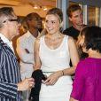 Exclusif - Alain Fromager et Julie Gayet au restaurant après la représentation - Festival de Ramatuelle - Pièce ART de Y. Reza le 4 août 2018. Un dîner était donné à l'issue de la représentation. © Cyril Bruneau / Festival de Ramatuelle / Bestimage