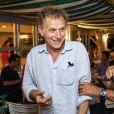 Exclusif - Charles Berling et Michel Boujenah - Festival de Ramatuelle - Pièce ART de Y. Reza le 4 août 2018. Un dîner était donné à l'issue de la représentation. © Cyril Bruneau / Festival de Ramatuelle / Bestimage