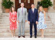 Letizia d'Espagne et Felipe : 1re rencontre glamour avec Pedro Sanchez et Begoña