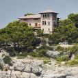 Vue du palais de Marivent, résidence d'été du roi d'Espagne à Palma de Majorque, le 4 août 2018.