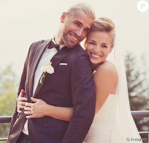 Lara Gut et Valon Behrami se sont mariés le 11 juillet 2018 à Lugano, en Suisse, quatre mois après avoir officialisé leur histoire d'amour. Photo Instagram publiée le 12 juillet par Lara Gut.