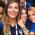 Alicia Aylies (Miss France 2017), Camille Cerf (Miss France 2015), Iris Mittenaere (Miss France 2016) et Maëva Coucke (Miss France 2018) en Russie pour la finale de la Coupe du monde 2018 - Instagram, 15 juillet 2018