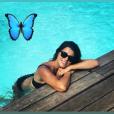 Karine Ferri radieuse au bord d'une piscine - story Instagram, samedi 4 août 2018