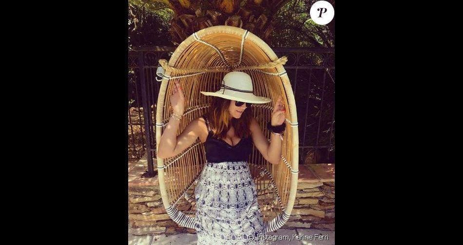 Karine Ferri enceinte de son deuxième enfant - Instagram, 24 mai 2018