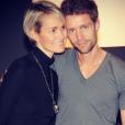 Laeticia Hallyday et son frère Gégory Boudou sur une photo publiée sur Instagram en février 2014.