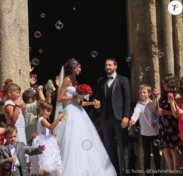 Sophie Vouzelaud et son mari Fabien, le 18 août 2018.