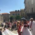 Sophie Vouzelaud, le jour de son mariage avec Fabien, le 18 août 2018 à Saint-Junien.