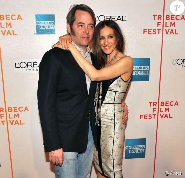 Matthew Broderick et Sarah Jessica Parker - Première du film Wonderful World dans le cadre du festival du film de Tribeca à New York le 27 avril 2009