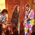 Joe Perry, Steven Tyler (Aerosmith) et Post Malone aux MTV Video Music Awards 2018. New York, le 20 août 2018.