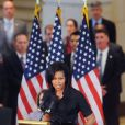 Michelle Obama lors de l'inauguration du buste de Sojourner Truth au Capitol Visitor Center à Washington le 28 avril 2009