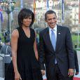 Michelle et Barack Obama en Allemagne le 3 avril 2009