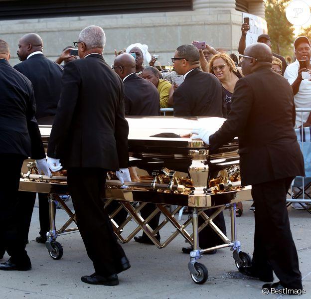 Le corps de Aretha Franklin arrive au musée Charles H. Wright à Detroit pour deux jours le 28 août 2018. © Kimberly P. Mitchell/Detroit Free Press/TNS via ZUMA Wire / Bestimage 28/08/2018 - Detroit